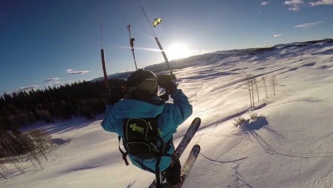 """Thinlines"": Cinematic Action Sports Short Film On Snowkiting Directed By Will Taggart (2014)"