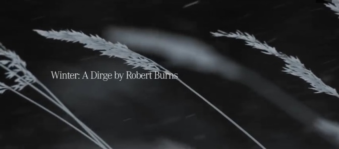 """""""4MATIC Winter Driving"""": A Cinematic Poem Commercial Featuring Poet Robert Burns By Mercedes-Benz (2013)"""