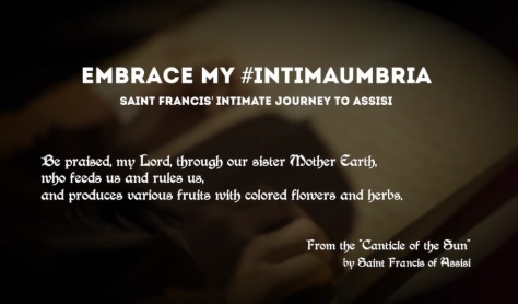 Embrace My #Intimaumbria cinematic short film journey of St Francis in Perugia Italy directed by Emiliano Bechi Gabrielli