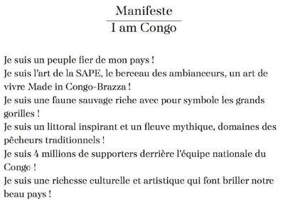 I Am Congo - Another Congo Cinematic Narrated Short Film Directed by David Mboussou & Juan Ignacio Davila 2015 Manifesto