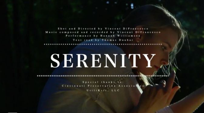 """Serenity"": A Cinematic Poem Performance Short Film Directed By Vincent DiFrancesco (2018)"